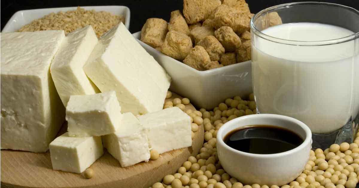 a set of soy food