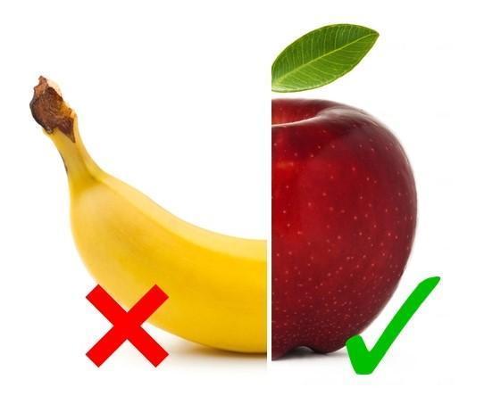 banana and apple check