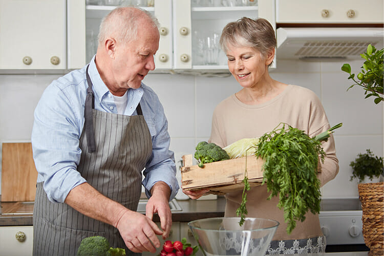 Senior couple in the kitchen - CKD Diet Plan