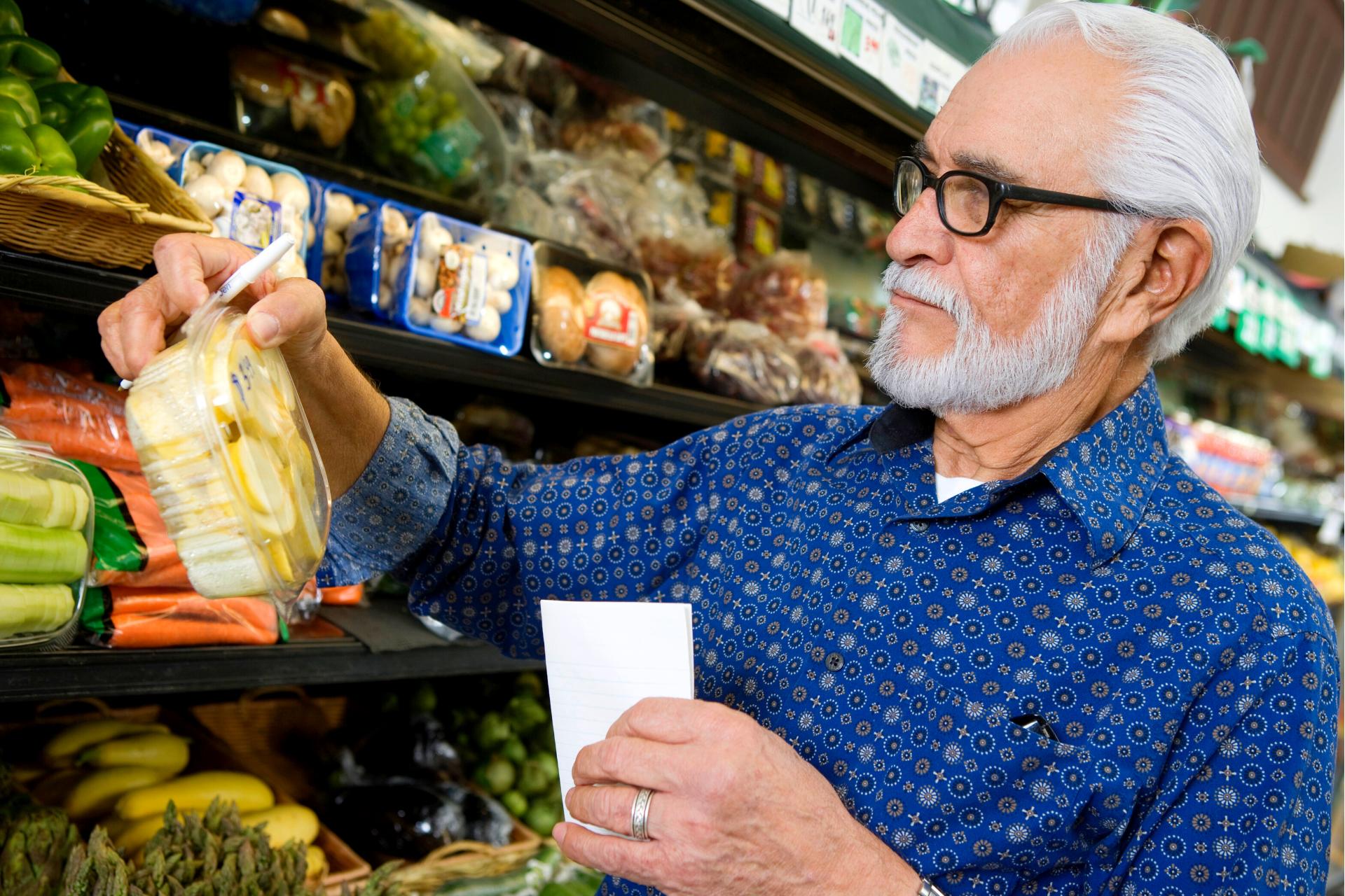 Senior grocery shopping